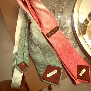 Authentic Louis Vuitton ties. Original box. No tag